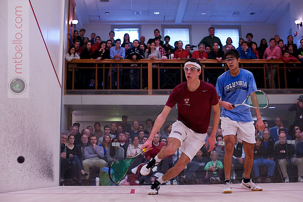 2012 College Squash Individual Championships: Ali Farag (Harvard) and Ramit Tandon (Columbia)<br /> <br /> Published on page 37 of Squash Magazine (March 2012)