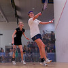 2013 College Squash Individual Championships: Catalina Pelaez (Trinity) and Michelle Gemmell (Harvard)