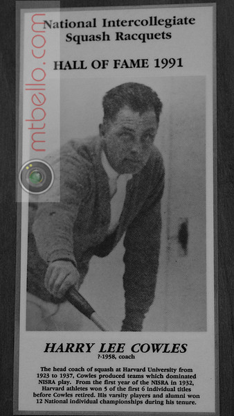 Men's College Squash Hall of Fame: Harry Cowles