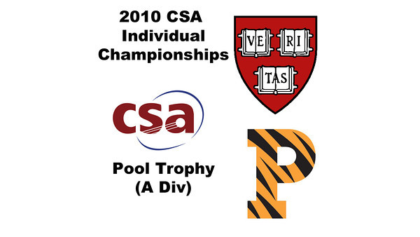 2010 CSA Individuals - Pool Trophy (Div A) Tophies: Colin West (Harvard) and Todd Harrity (Princeton)