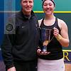 2013 College Squash Individual Championships: Amanda Sobhy (Harvard) and Mike Way