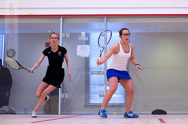 2013 Pioneer Valley Invitational: Michelle Gemmell (Harvard) and Claire Corroon (Hamilton)