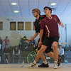 Zeke Scherl (Harvard) and Chris Callis (Princeton)<br /> <br /> This photo was published in the October 2010 issue of Squash Magazine (page 36-37).