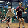 Colin West (Harvard) and Todd Harrity(Princeton)<br /> <br /> This photo was published in the October 2010 issue of Squash Magazine (page 6).