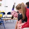 2013 College Squash Individual Championships: Caroline Nightingale (Haverford) and Niki Clement