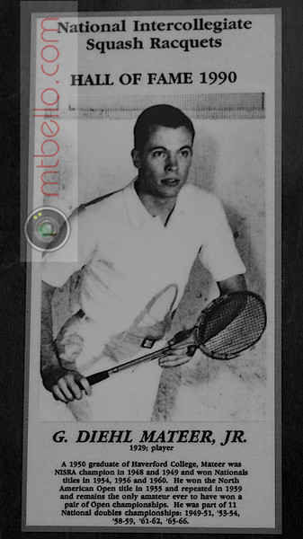 Men's College Squash Hall of Fame: G. Diehl Matteer