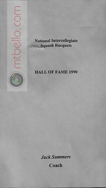 Men's College Squash Hall of Fame: Jack Summers