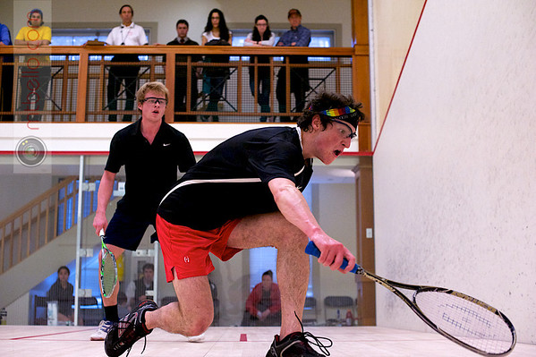 2012 College Squash Individual Championships: John Steele (Wesleyan) and Jay Dolan (Middlebury)