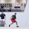 2012 Men's College Squash Association National Team Championships: Parker Hurst (Middlebury) and Ibrahim Khan (St. Lawrence)