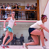 2012 College Squash Individual Championships: Elena Laird (Middlebury) and Chanel Erasmus (Trinity)