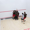2012 Men's College Squash Association National Team Championships: St. Lawrence celebratig victory over Middlebury