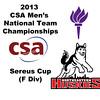 2013 Men's College Squash National Team Championships: Alex Schumann (NYU) Louie Sitwell (Northeastern)