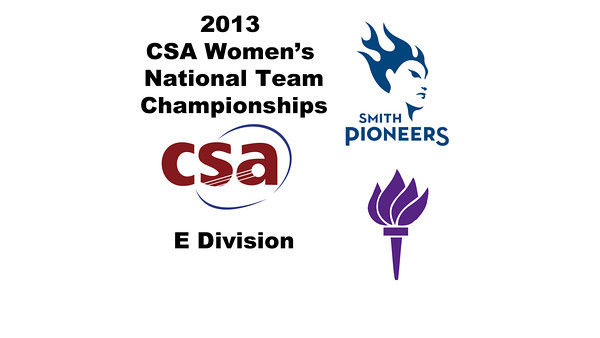 2013 Women's College Squash Association National Team Championships: Szilvi Kiss (Smith) and Michelle Yagnatovsky (NYU)