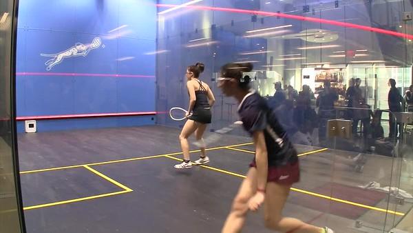 2018 Individual Championships:  Reeham Sedky (Penn) and Sabrina Sobhy (Harvard) Gm 1