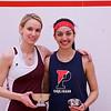2013 College Squash Individual Championships: Michelle Gemmell (Harvard) and Pia Trikha (Penn)