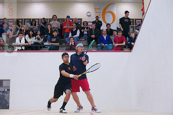 2012 Men's College Squash Association National Team Championships: Trevor McGuinness (Penn) and Christopher Fernandez (St. Lawrence)