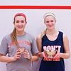 2013 College Squash Individual Championships: Chloe Blacker (Penn) and Tara Harrington (Princeton)