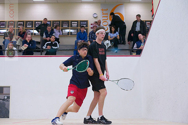 2012 Men's College Squash Association National Team Championships: Derek Chilvers (Penn) and Will Campo (St. Lawrence)