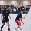 2012 Men's College Squash Association National Team Championships: John Dudzik (Penn) and Amay Merchant (St. Lawrence)
