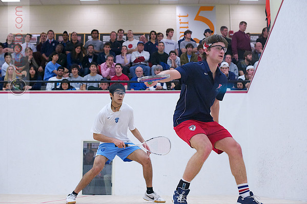 2012 Men's College Squash Association National Team Championships: Thomas Mattsson (Penn) and Ramit Tandon (Columbia)