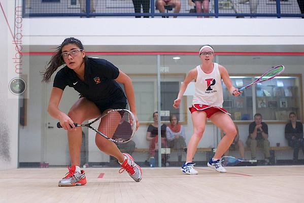 Courtney Jones (Penn) and Nicole Bunyan (Princeton)  - 2011 Ivy League Scrimmages