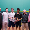 2013 College Squash Individual Championships: Stuart le Gassick,Chris Sachvie,Neil Pomphrey, Bob Callahan, Vivek Dinodia (Princeton) and Blake Reinson (Brown)