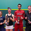 2013 College Squash Individual Championships: Amanda Sobhy (Harvard), Kanzy El Defrawy (Trinity),Amr Khaled Khalifa (St. Lawrence) and Todd Harrity (Princeton)<br /> <br /> Published on page 1 of Squash Magazine (March/April 2013)