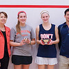 2013 College Squash Individual Championships: Gail Ramsay, Randy Lim, Chloe Blacker (Penn) and Tara Harrington (Princeton)