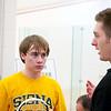 Zack Miller (Siena) with coach Kyle Sleasman