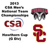 2013 Men's College Squash National Team Championships: Jack O'Brien (Fordham) and Christopher Ng (USC)