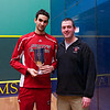 2013 College Squash Individual Championships: Amr Khaled Khalifa and Chris Abplanalp (St. Lawrence)<br /> <br /> Published on page 22 of Squash Magazine (December 2013)