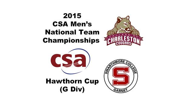2015 MCSA Team Championships -  Hawthorn Cup: Arjun Vishwanath (Swarthmore) and Chandler Kurtz (Charleston)