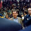 Tournament Referee Sean Sloane addressing Yale and Trinity