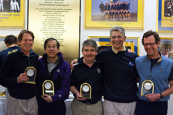 Former Men's Presidents: John Power, Peter Robson (Amerst) Craig Thorpe-Clark (Penn), Paul Assaiante (Trinity), and Dave Talbott (Yale)