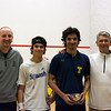 Hansi Wiens (Dartmouth), Nick Nicholas Sisodia (Dartmouth), Supreet Singh  (Trinity), Paul Assaiante(Trinity)