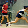 Sydney Scott (Penn) and Nayelly Hernandez  (Trinity)<br /> <br /> This photo was published in the March 2010 issue of Squash Magazine (page 30).