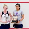 2012 College Squash Individual Championships: Robyn Hodgson (Trinity) and Shuihui Mao (Yale)