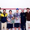 2012 College Squash Individual Championships: Hameed Ahmed, Andres Vargas, Miled Zarazua (Trinity), Benjamin Fischer (Rochester), Paul Assaiante, and Martin Heath