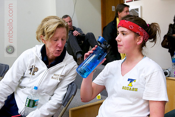 2012 College Squash Individual Championships: Catalina Pelaez (Trinity) and Wendy Bartlett