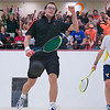 2012 Men's College Squash Association National Team Championships: Reinhold Hergeth (Trinity) and Kelly Shannon (Princeton) - The moment of victory