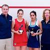 2012 College Squash Individual Championships: Jack Wyant, Yarden Odinak (Penn), Alicia Rodriguez (Trinity), Wendy Bartlett