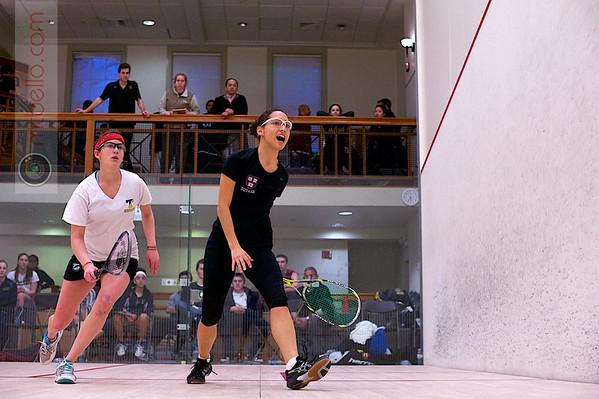 2012 College Squash Individual Championships: Cecelia Cortes (Harvard) and Catalina Pelaez (Trinity)