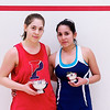 2012 College Squash Individual Championships: Yarden Odinak (Penn) and Alicia Rodriguez (Trinity)