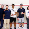 2012 College Squash Individual Championships: Paul Assaiante, Andres Vargas, Vishrab Kotian (Trinity), Omar Sobhy (George Washington), and Wendy Lawrence,Paul Assaiante, Andres Vargas, and Wendy Lawrence