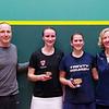 2013 College Squash Individual Championships: Mike Way, Wendy Bartlett, Catalina Pelaez (Trinity) and Haley Mendez (Harvard)