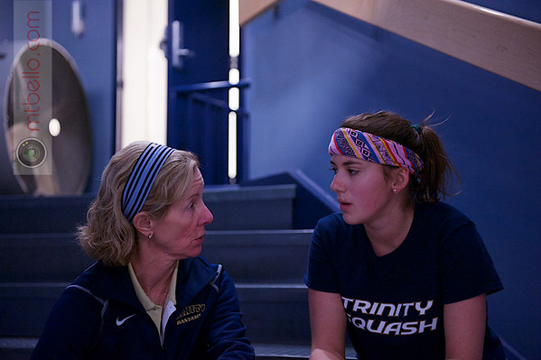 2013 College Squash Individual Championships: Wendy Bartlett and Catalina Pelaez (Trinity)
