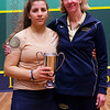 2013 College Squash Individual Championships: Wendy Bartlett and Kanzy El Defrawy (Trinity)