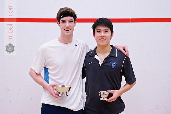 2013 College Squash Individual Championships: Matthew Mackin (Trinity) and Anthony Zou (Columbia)