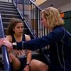 2013 College Squash Individual Championships: Kanzy El Defrawy (Trinity) and Wendy Bartlett