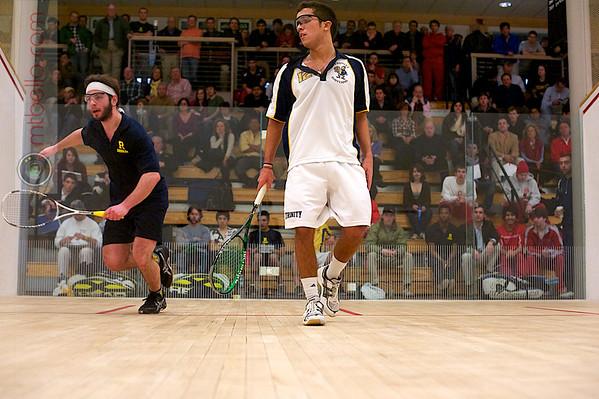 Juan Flores (Trinity) and Matt Domenick (Rochester)